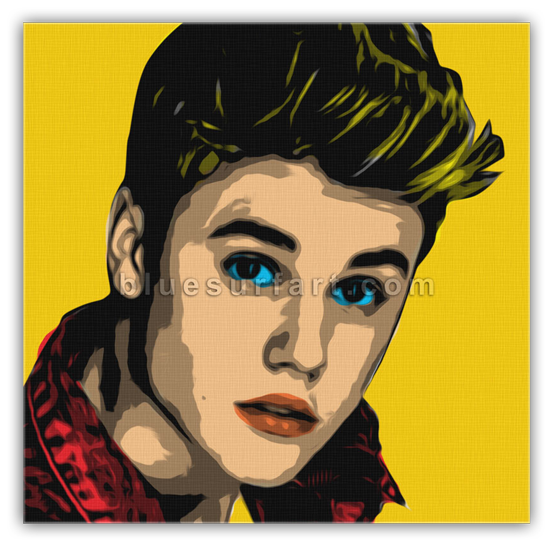 Justin Bieber in Oil Painting on Canvas