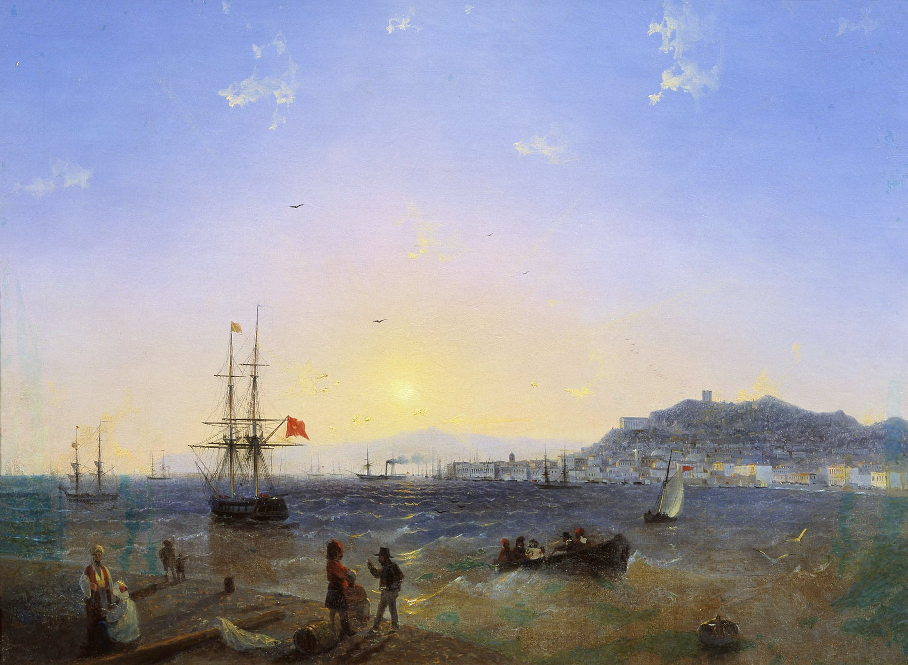 View of Kerch (1839) by Ivan Aivazovsky Reproduction Painting by Blue Surf Art