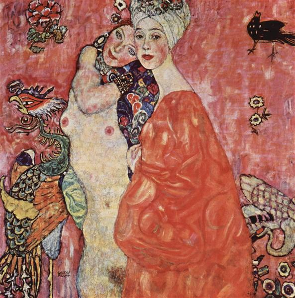 The Women Friends by Gustav Klimt Oil Painting on Canvas. Wall Art Home Decor
