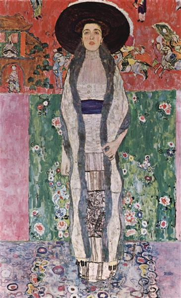 Portrait of Adele Bloch-Bauer II by Gustav Klimt Oil Painting on Canvas. Wall Art Home Decor