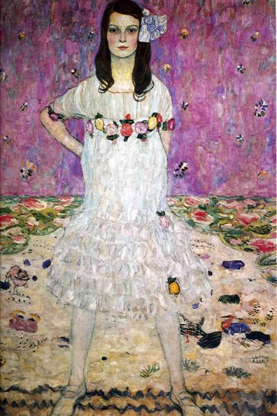 Mada Primavesi by Gustav Klimt Oil Painting on Canvas. Wall Art Home Decor