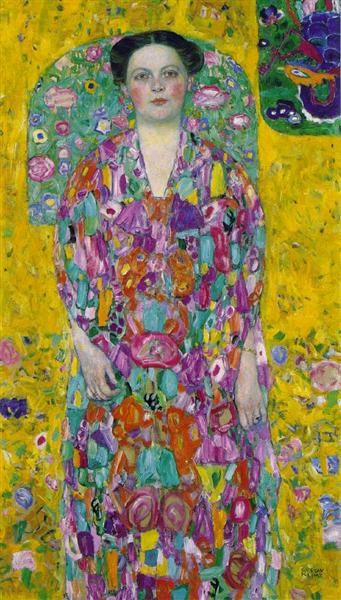 Portrait Of Eugenia Primavesi by Gustav Klimt Oil Painting on Canvas