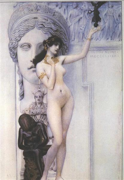Allegory of Sculpture by Gustav Klimt Oil Painting on Canvas