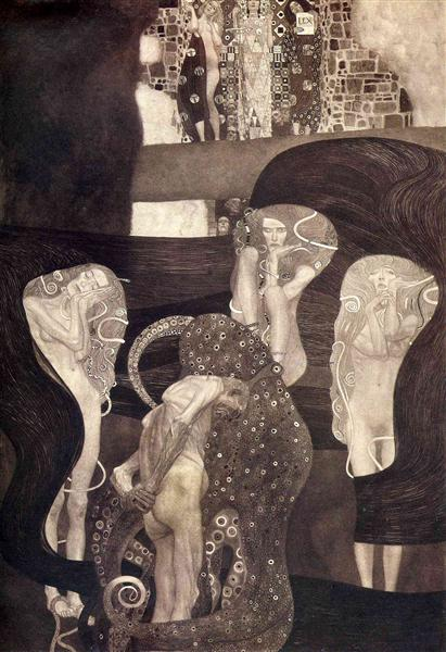 Jurisprudence (final state) by Gustav Klimt Oil Painting on Canvas