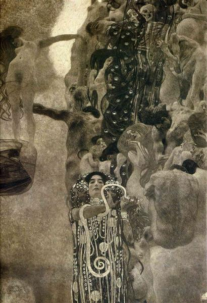 University of Vienna Ceiling Paintings (Medicine), final state by Gustav Klimt Oil Painting on Canvas