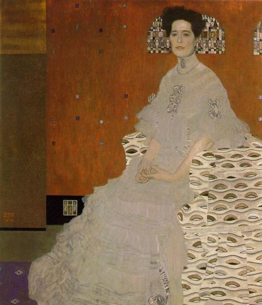 Portrait of Fritza Riedler by Gustav Klimt, reproduction oil painting on canvas
