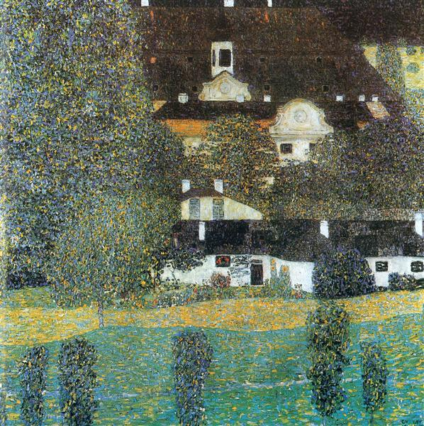 Schloss Kammer am Attersee, II by Gustav Klimt Oil Painting on Canvas