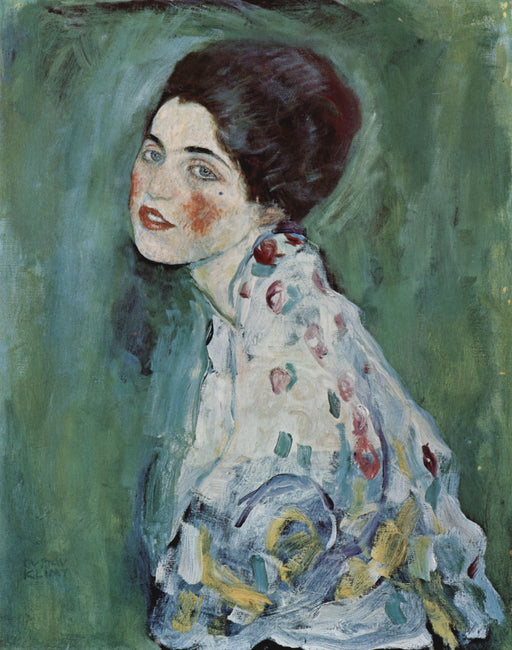 Portrait of a Lady by Gustav Klimt - Oil Painting on Canvas