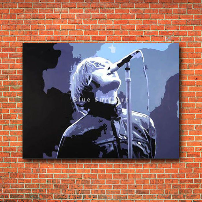 Liam Gallagher Painting - red brick wall
