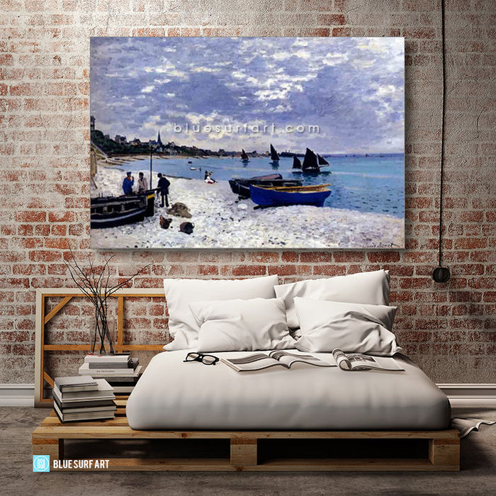 Beach at Sainte Adresse oil painting on canvas - bedroom