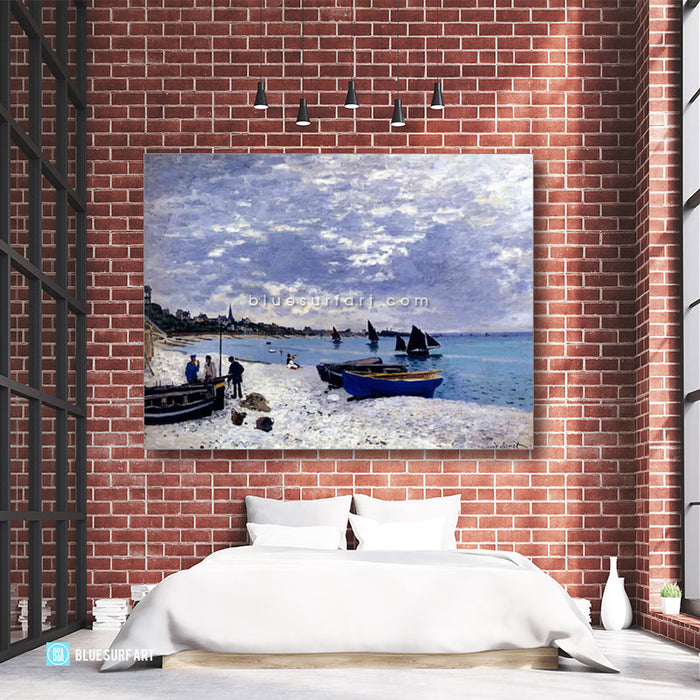 Beach at Sainte Adresse oil painting on canvas - bedroom loft