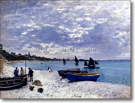 Beach at Sainte Adresse oil painting on canvas