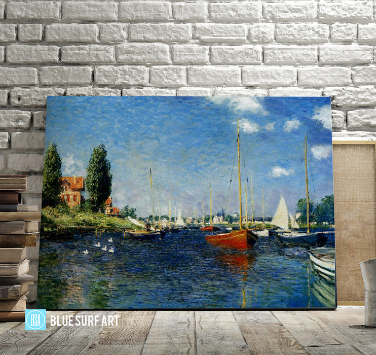 Argenteuil, 1875. Reproduction Oil Painting on Canvas I Blue Surf Art - showcase