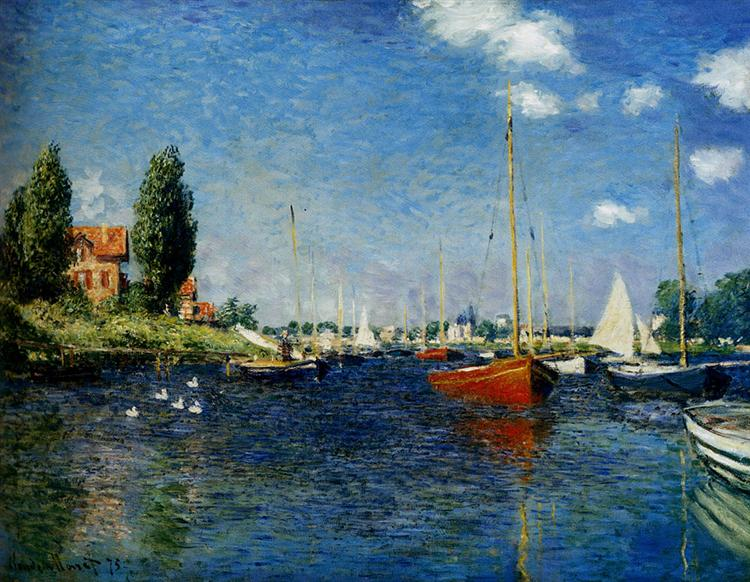 Argenteuil, 1875. Reproduction Oil Painting on Canvas I Blue Surf Art
