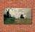 A Windmill near Zaandam, 1871. Reproduction Oil Painting on Canvas I Blue Surf Art - Red bricks
