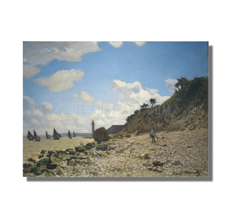 Beach at Honfleux. Reproduction  I  Blue Surf Art 1
