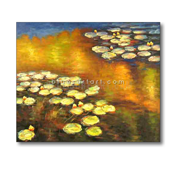 Water Lilies Reproduction  I  Blue Surf Art 4