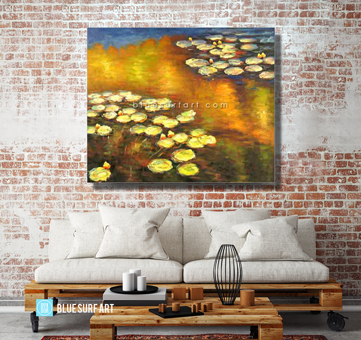 Water Lilies Reproduction  I  Blue Surf Art 3