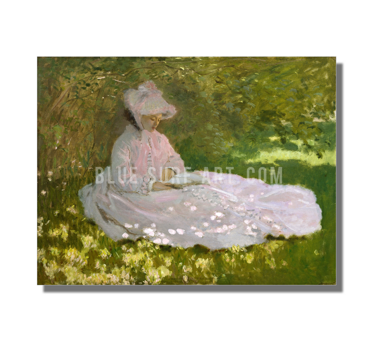 Springtime, 1872. Reproduction Oil Painting on Canvas  I  Blue Surf Art - on white wall