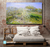 Apple Trees In Blossom, 1873. Reproduction Oil Painting on Canvas I Blue Surf Art - bedroom