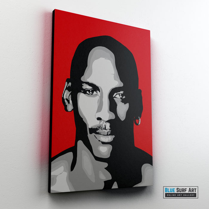 Michael Jordan Canvas Pop Art Painting I Wall Art - Home Decor - sideway preview