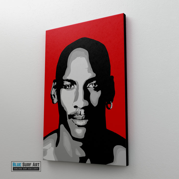 Michael Jordan Canvas Pop Art Painting I Wall Art - Home Decor - side way preview