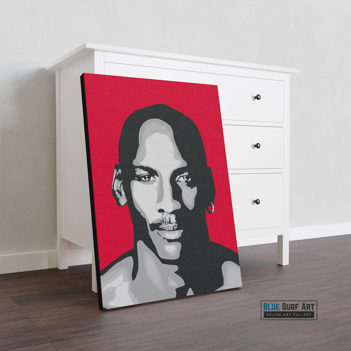 Michael Jordan Canvas Pop Art Painting I Wall Art - Home Decor - showcase in living room