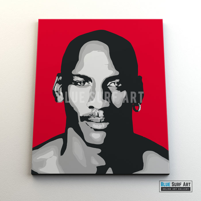 Michael Jordan Canvas Pop Art Painting I Wall Art - Home Decor - front canvas preview
