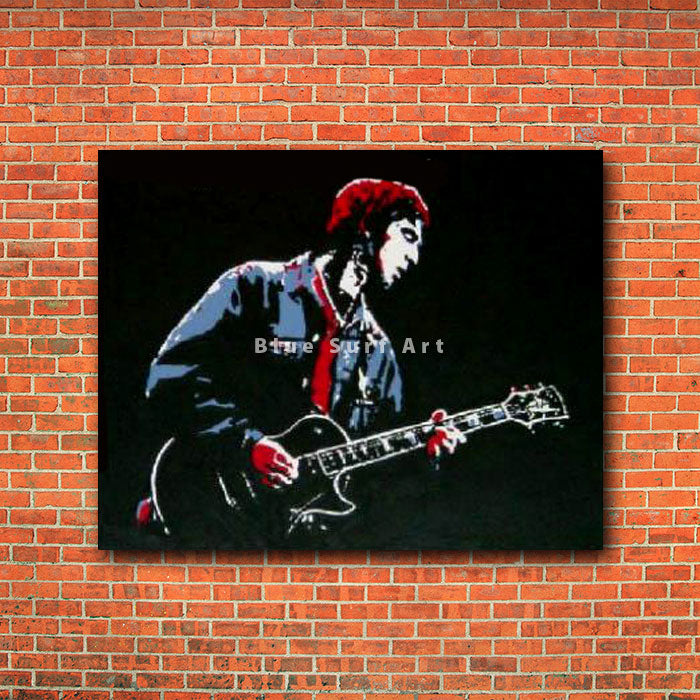 Noel Gallagher Painting - red brick wall