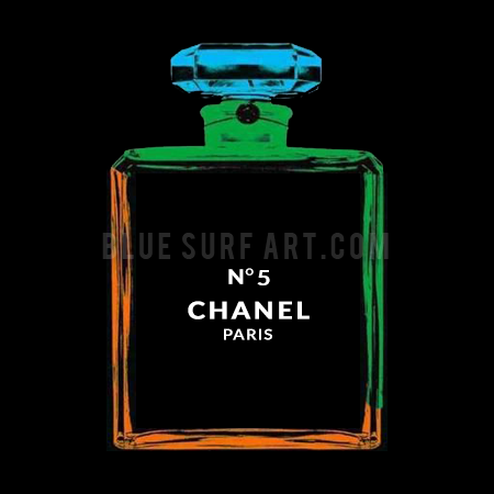 Chanel Warhol painting by Blue Surf Art