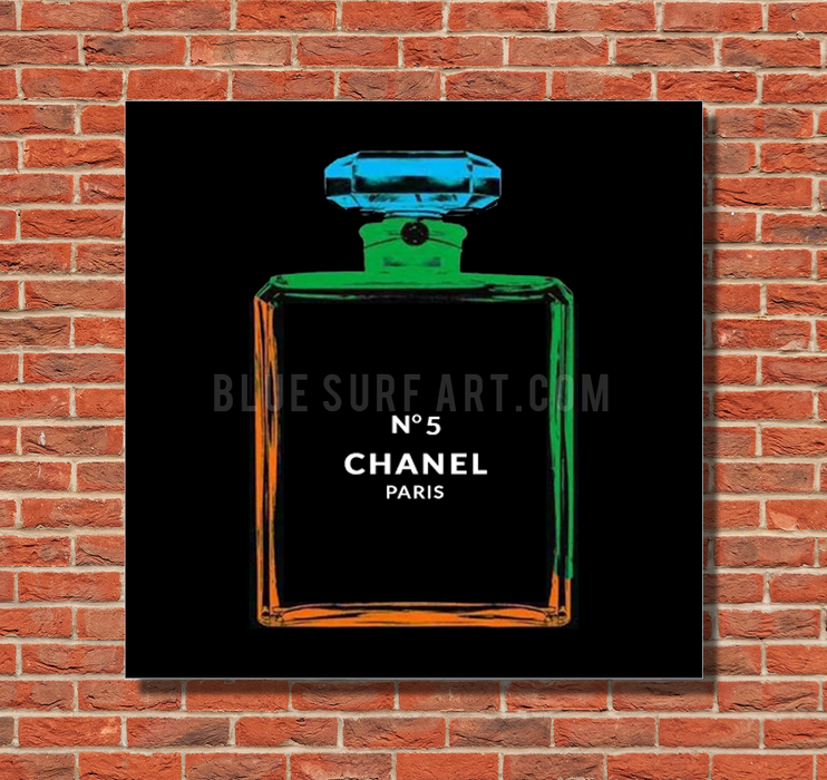 Chanel Warhol painting by Blue Surf Art 1 - red bricks wall