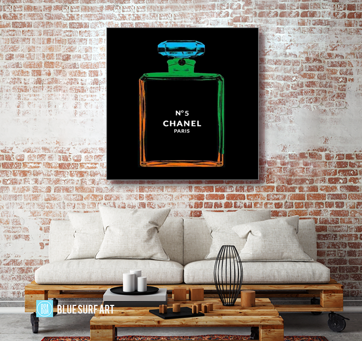 Chanel Warhol painting by Blue Surf Art 2- living area