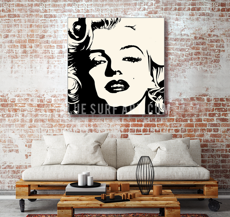 Marilyn Monroe oil painting on canvas by Blue Surf Art - 4 living room