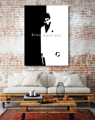 Montana - Scarface Oil Painting on Canvas by Blue Surf Art 2