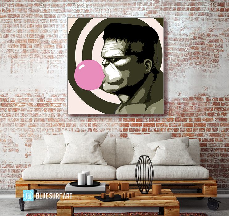 Hulk Smash Oil Painting on Canvas by Blue Surf Art 4