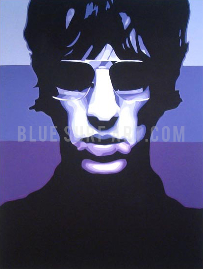 Keys to the World - Richard Ashcroft Oil Painting on Canvas by Blue Surf Art