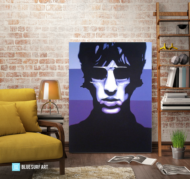 Keys to the World - Richard Ashcroft Oil Painting on Canvas by Blue Surf Art 6