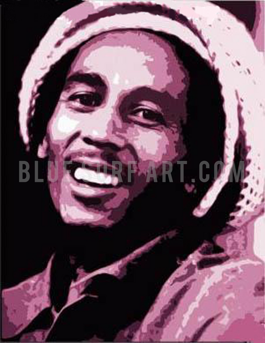 Tuff Gong - Bob Marley Oil painting on canvas by Blue Surf Art