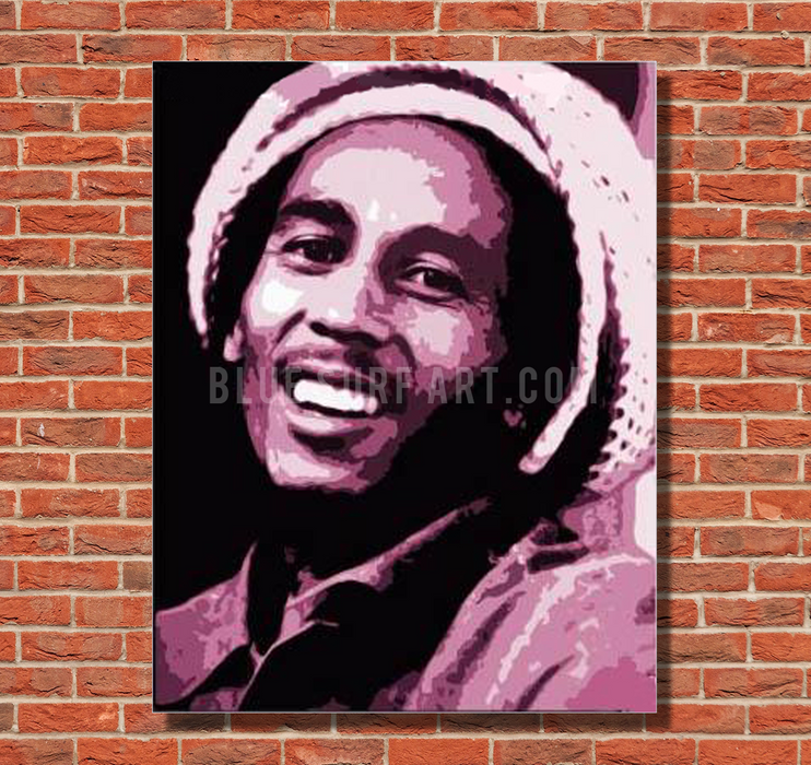 Tuff Gong - Bob Marley Oil painting on canvas by Blue Surf Art 1