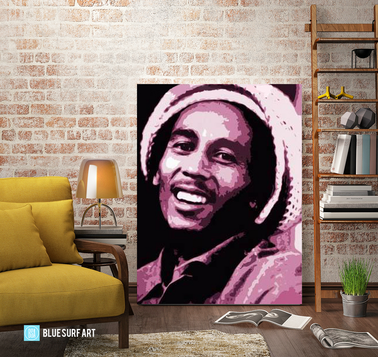 Tuff Gong - Bob Marley Oil painting on canvas by Blue Surf Art 2