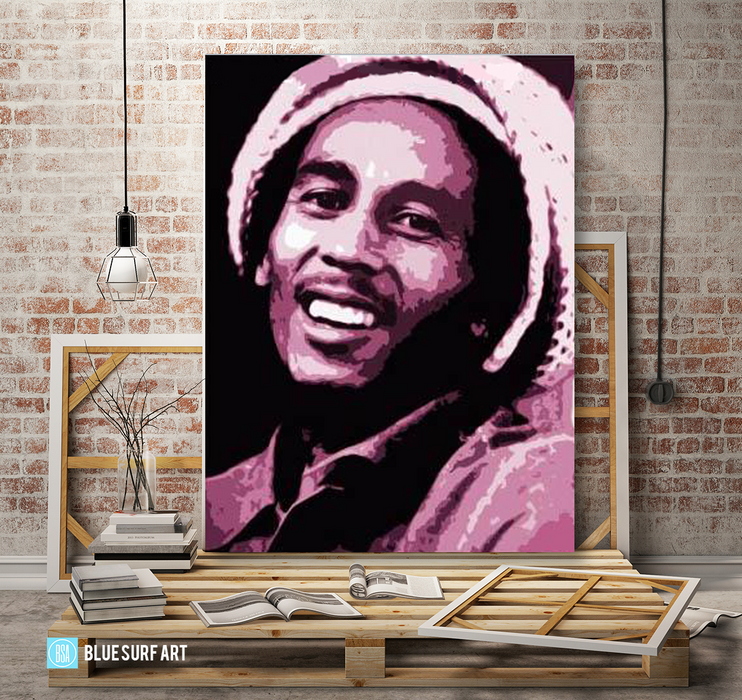 Tuff Gong - Bob Marley Oil painting on canvas by Blue Surf Art 3