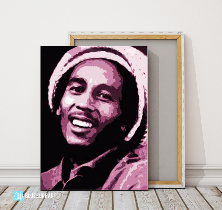 Tuff Gong - Bob Marley Oil painting on canvas by Blue Surf Art 4