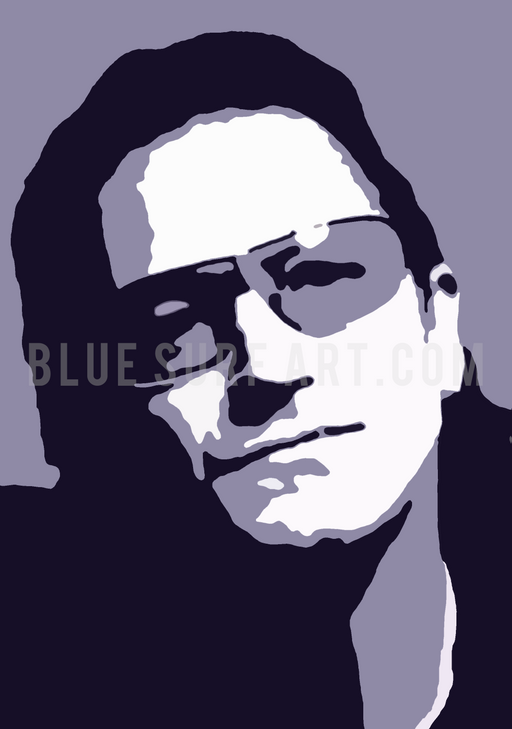 Vox - Bono U2 Oil Painting on Canvas by Blue Surf Art