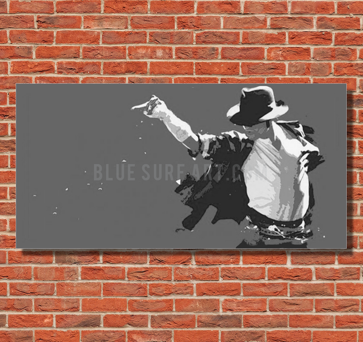 This is it! - Grey - Michael Jackson Oil Painting on Canvas by Blue Surf Art 1