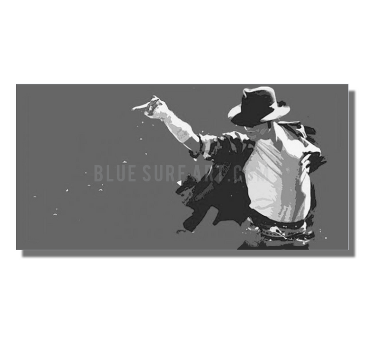 This is it! - Grey - Michael Jackson Oil Painting on Canvas by Blue Surf Art 5