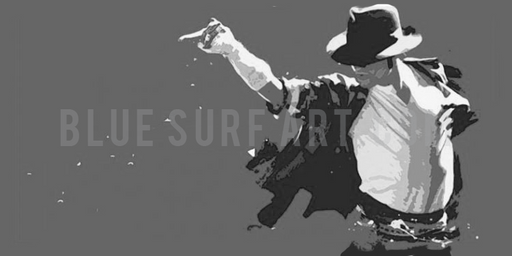 This is it! - Grey - Michael Jackson Oil Painting on Canvas by Blue Surf Art