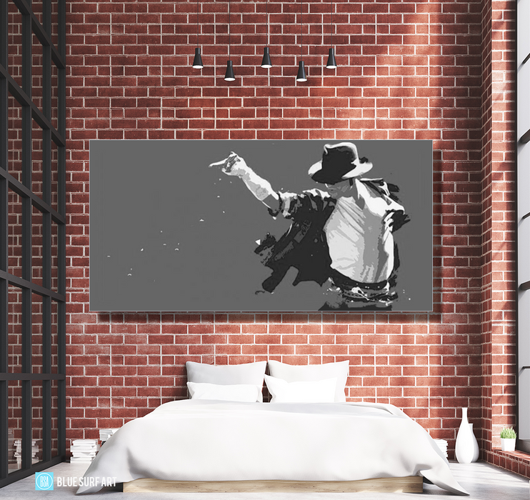 This is it! - Grey - Michael Jackson Oil Painting on Canvas by Blue Surf Art 3