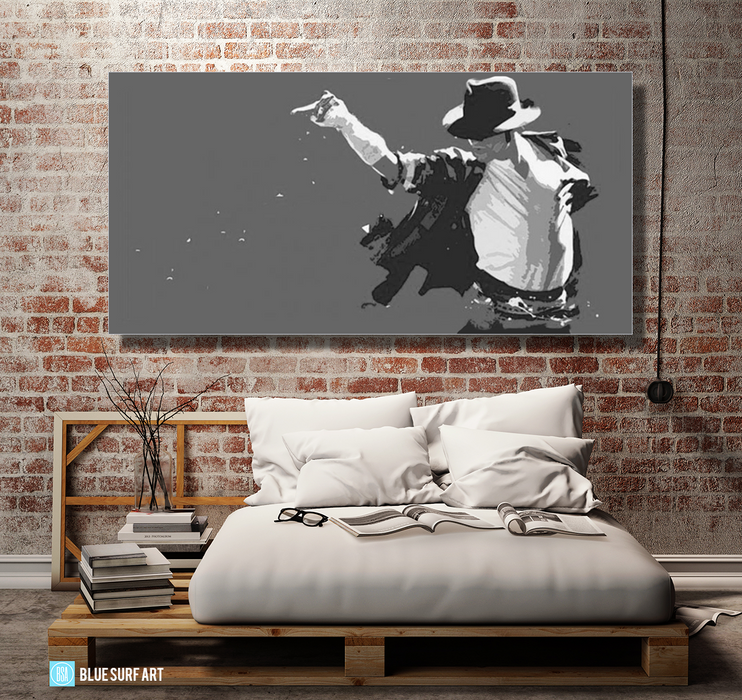 This is it! - Grey - Michael Jackson Oil Painting on Canvas by Blue Surf Art 4