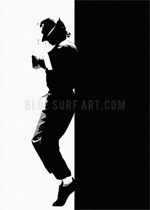 Off the Wall - Michael Jackson Oil Painting on Canvas by Blue Surf Art