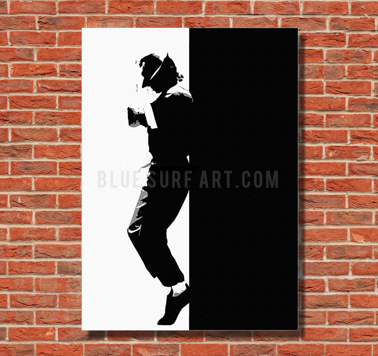 Off the Wall - Michael Jackson Oil Painting on Canvas by Blue Surf Art1